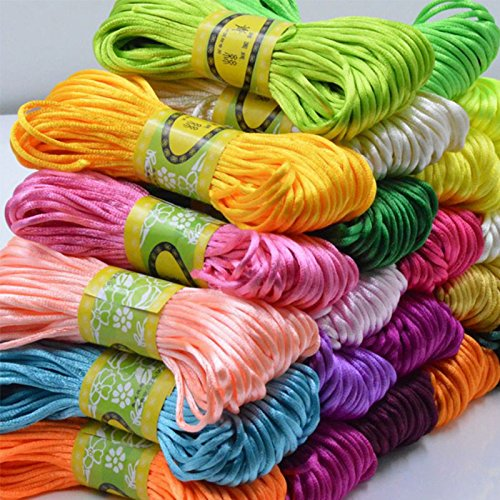 Silk Cord (Merssavo DIY Silicone Teething Necklace Accessory Silk Cord For Teething Jewellery Making)