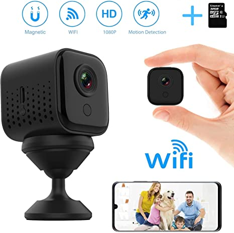 UK STOCK Mini WiFi Hidden Camera Wireless Small Video Camera Full HD 1080P Night Vision Motion Detection Security Nanny Surveillance Cam For Home Indoor Outdoor