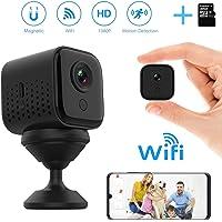 Mini WiFi Camara Espia Oculta, DEXILIO 1080P Vigilancia cámara de con detección de Movimiento y visión Nocturna, Camara Seguridad Pequeña Inalambrica Interior/Exterior (con Tarjeta de 32GB)