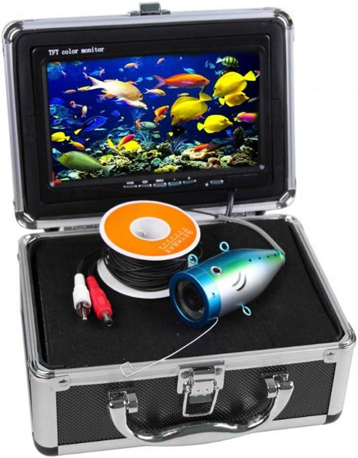 Tosuny Drone Submarino, cámara de Pesca de 9 Pulgadas con Monitor de Color 1000TVL