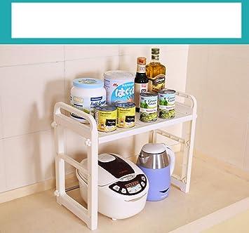 Muebles de cocina Estanterías de microondas Suministros de cocina Estantes de espátula de bote Estantes multiusos