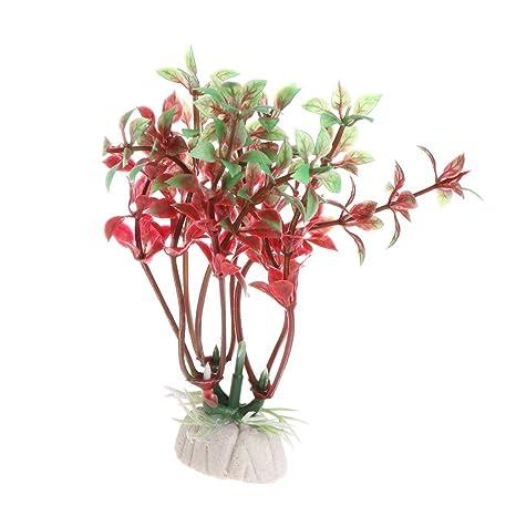 Lunji planta acuática artificial, acuario césped pecera decoración paisaje decoración