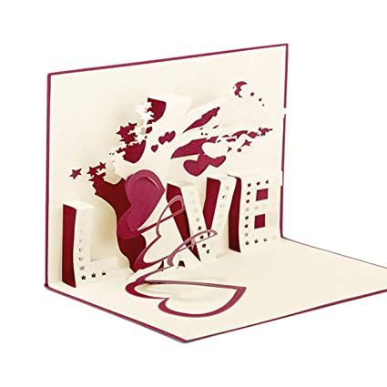 Tarjetas Pop up Amor Paper Spiritz Tarjetas de Felicitación Boda Pop up Card Love Corte por Laser 3D Pop up Card Invitación Boda Vintage Original ...