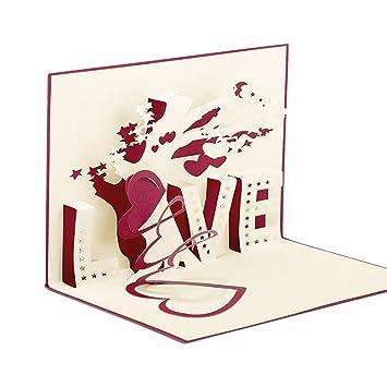 Tarjetas Pop up Amor Paper Spiritz Tarjetas de Felicitación ...