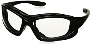 Uvex S0600X Seismic Safety Eyewear, Black Frame, Clear Uvextra Anti-Fog Lens/Headband