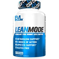 Evlution Nutrition Lean Mode - Complete Stimulant-Free Weight Loss Support and Diet System with Green Coffee, Carnitine, CLA, Green Tea, Garcinia Cambogia for Fat Burning and Metabolism, 50 Servings