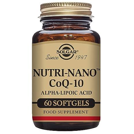 Solgar Nutri-Nano CoQ-10 con Ácido Alfa-Lipoico Cápsulas blandas - Envase