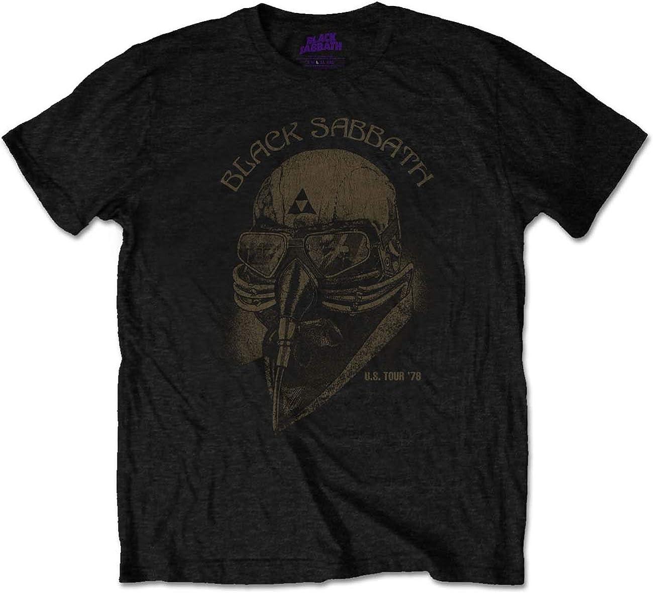 Official T Shirt BLACK SABBATH Black US 78 Logo Print Band Tee All Sizes