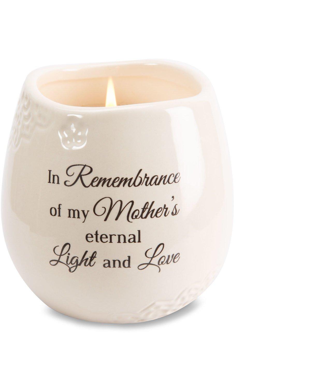 Light Your Way Memorial 19179 in Memory of Mother Ceramic Soy Wax Candle by Light Your Way Memorial