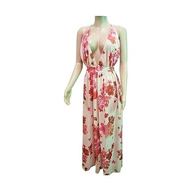 2617b2d9917 meiguiyuan 2019 Summer Floral Print Boho Beach Dress Sleeveless Evening  Party Shift Dresses Tunics Sexy Robe