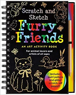Scratch and sketch books for adults