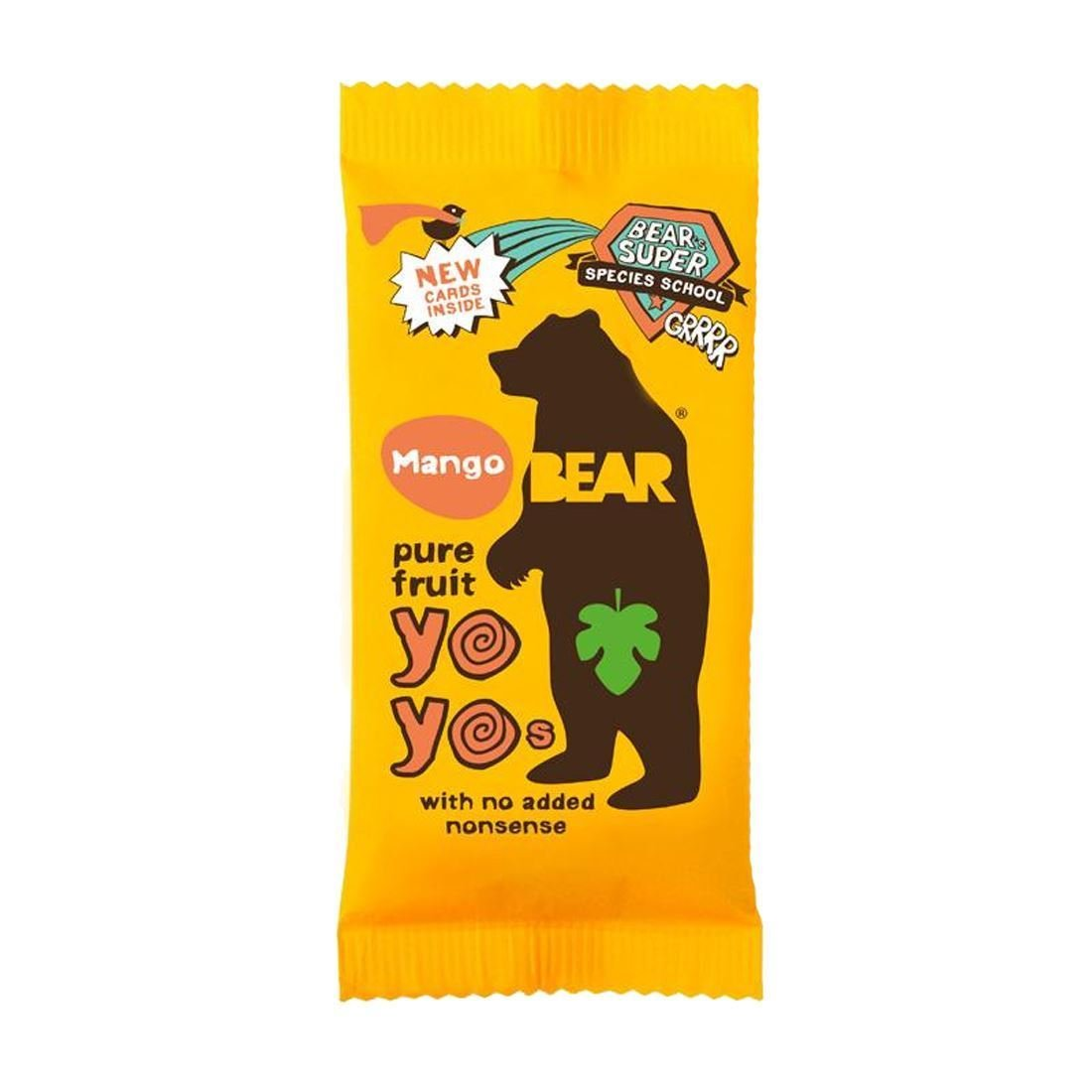 Bear | Yoyo Pure Fruit Rolls - Mango | 18 x 20G