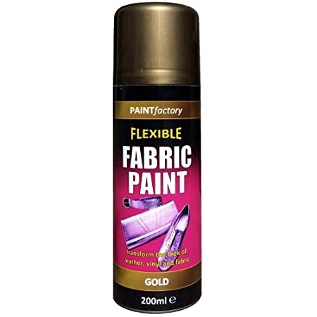 Flexible Fabric Spray Paint Gold 200ml For Leather Vinyl And Fabric