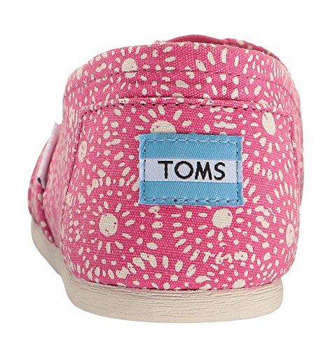 Toms Classic Fuchsia Dots Donne Tela Espadrillas Scarpe