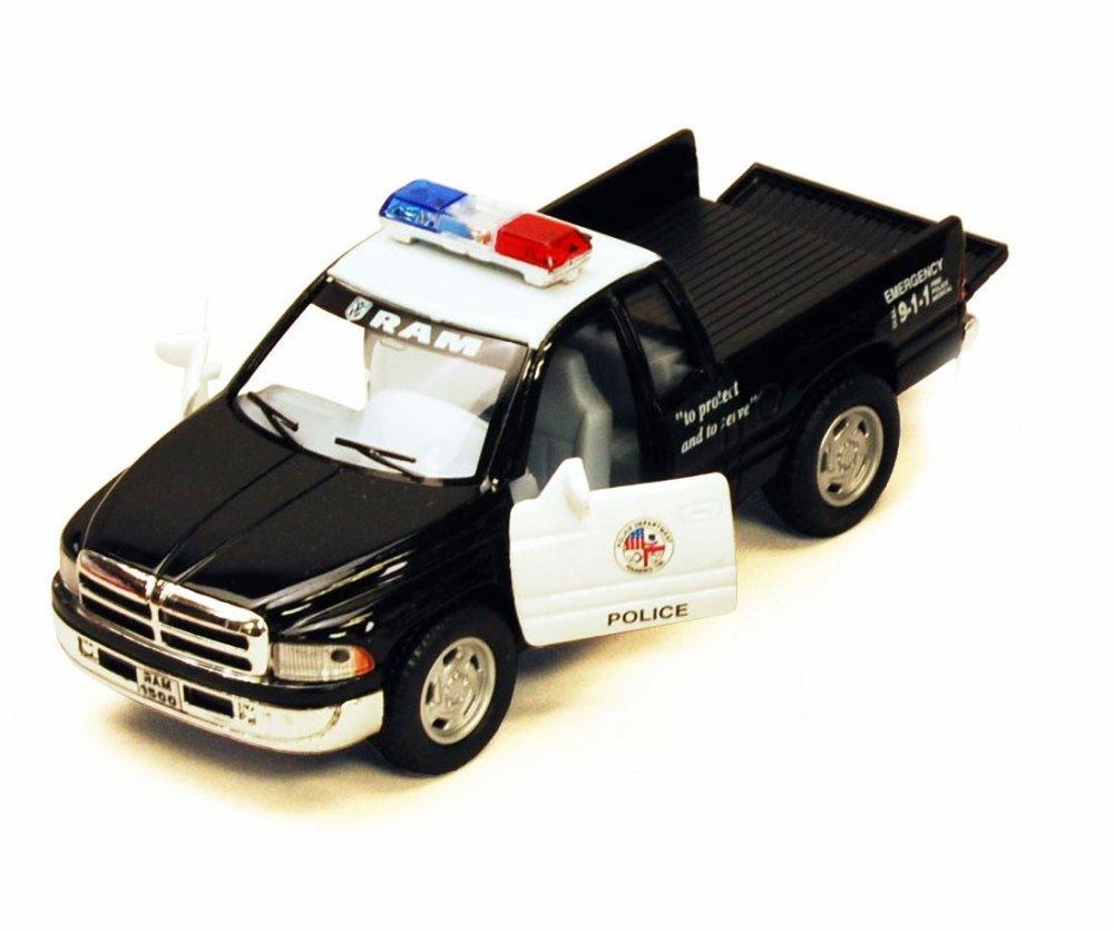 Dodge Ram Police Pick Up Black Kinsmart 5018DP 1 44 scale Diecast Model Toy Car