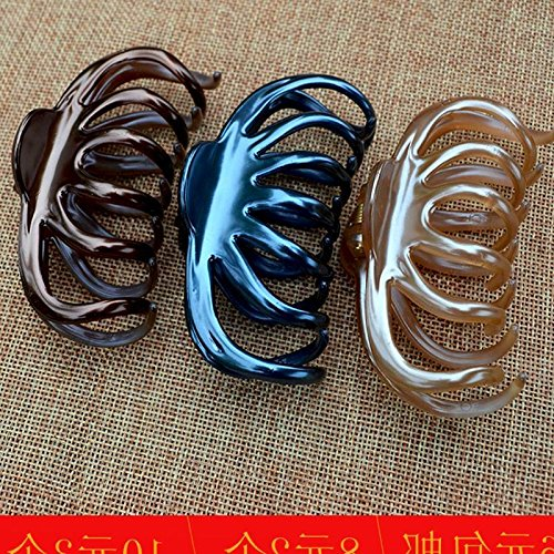 Hair clip claw bath hairpin hairpin gripper grasping hair clip catch large super large size Hair pan head ornaments for women girl lady by Generic