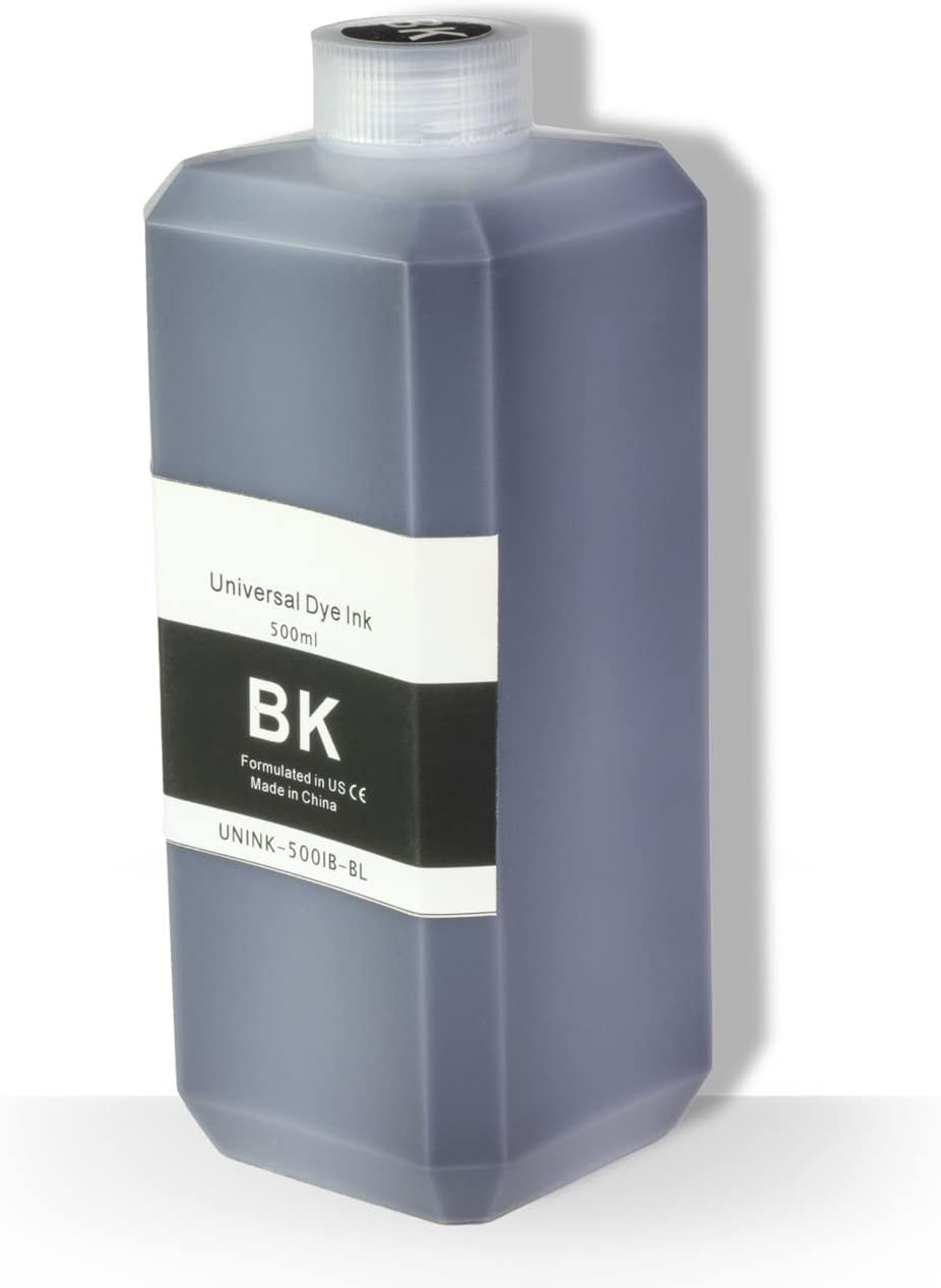 OfficeSmartInk Refill Ink with Refill Kit Compatible with Most Inkjet Printers (Black 500 ml Bottle 16.9 oz, 1-Pack)