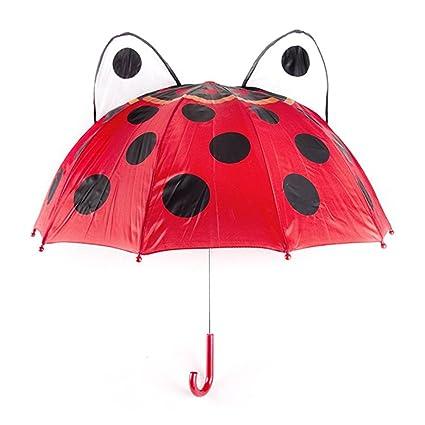 28f9dc80c0d8c Amazon.com: Unetox Children's Ladybug Umbrella Novelty Rainy Day Umbrella  Full Size 18