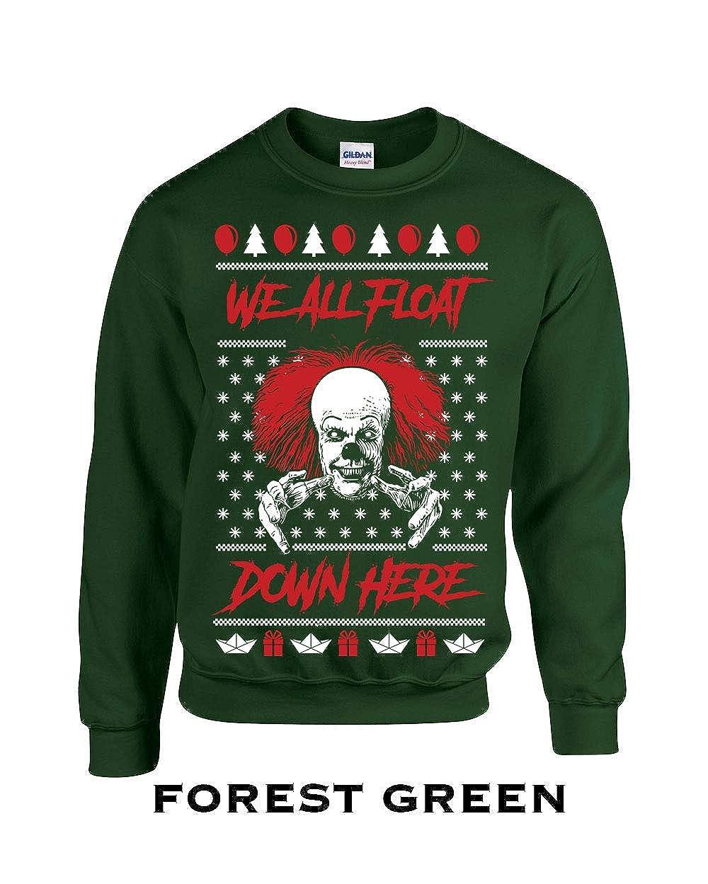 Swaffy Tees 648 We All Float Xmas Sweater Funny Adult Crew Sweatshirt