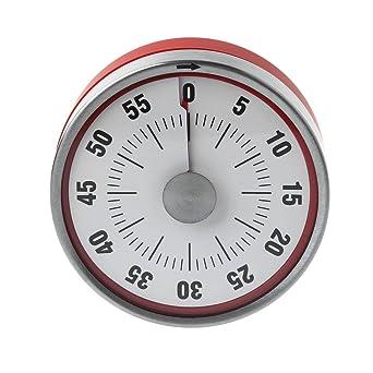 cuigu temporizador acero inoxidable Imanes Cocina Temporizador 60 minuto Cuenta atrás Cronómetro mecánica reloj de recuerdo