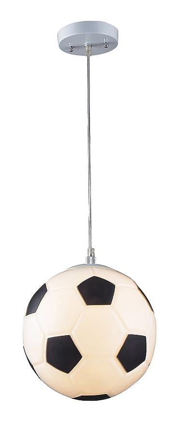 Elk 5123 1 1 Light Soccer Ball Pendant In Silver Ceiling Pendant