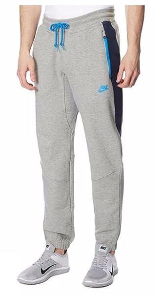 Pantalones de entrenamiento Nike, con forro polar Gris gris/azul L ...