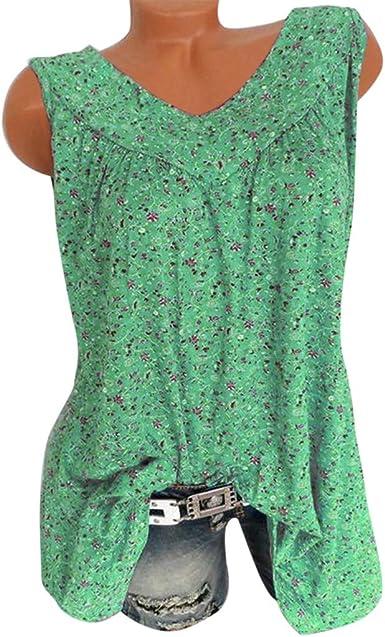 ZEFOTIM Women Plus Size Short Sleeves V-Neck Print Blouse Pullover Tops Shirt