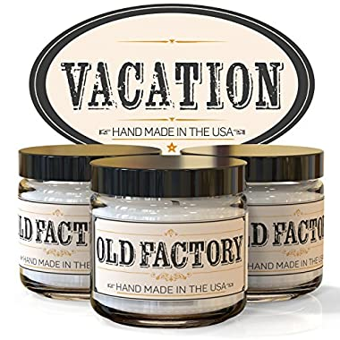 Scented Candles - Vacation - Set of 3: Sea Breeze, Hawaiian Lei, and Awapuhi - 3 x 4-Ounce Soy Candles - Each Votive Candle is Handmade in the USA with only the Best Fragrance Oils