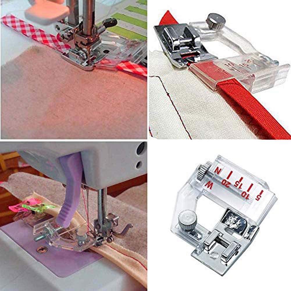 1 PACK Lovinland Sewing Bias Tape Maker,11 in 1 Quilting Binding Tool Set,4 Sizes Fabric Bias Tape Maker Kit 6mm 12mm 18mm 25mm DIY Swing Bias Tape Makers Quilting Tool Kit