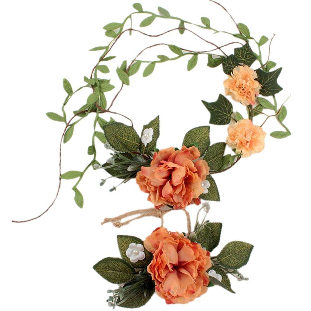 Qingsun Accessoire bandeau Cheveux Mariage Bandeau de Fleurs Couronne Fleur Anneau de Cheveux de Marié e
