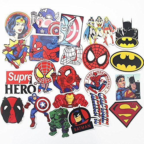 Superhero Toy Stickers For Kids - 32 pcs - Random / Differen