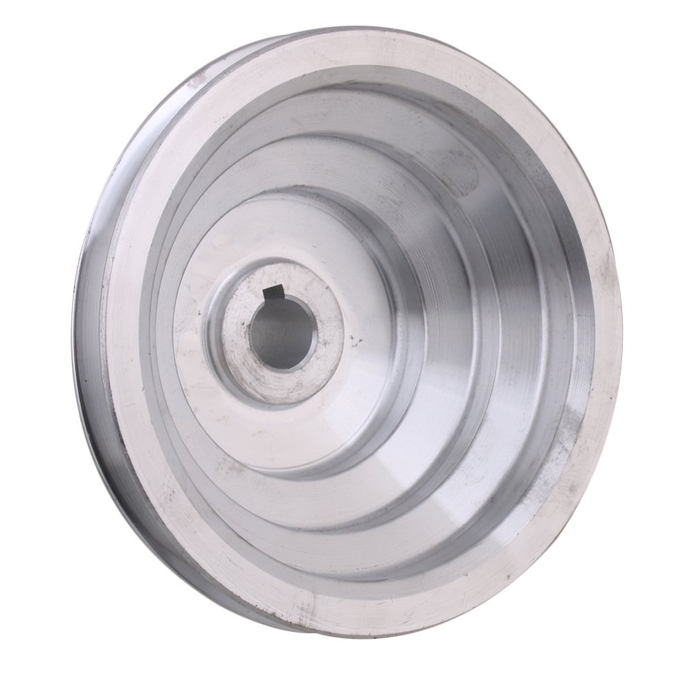 BQLZR 54mm to 150mm Outter Dia 18mm Bore Width 12.7mm Aluminum 5 Step Pagoda Pulley Belt for A Type V-Belt Timing Belt