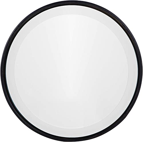 NIKKY HOME 10 Vintage Small Decorative Round Mirror for Wall Beveled Edge, Black