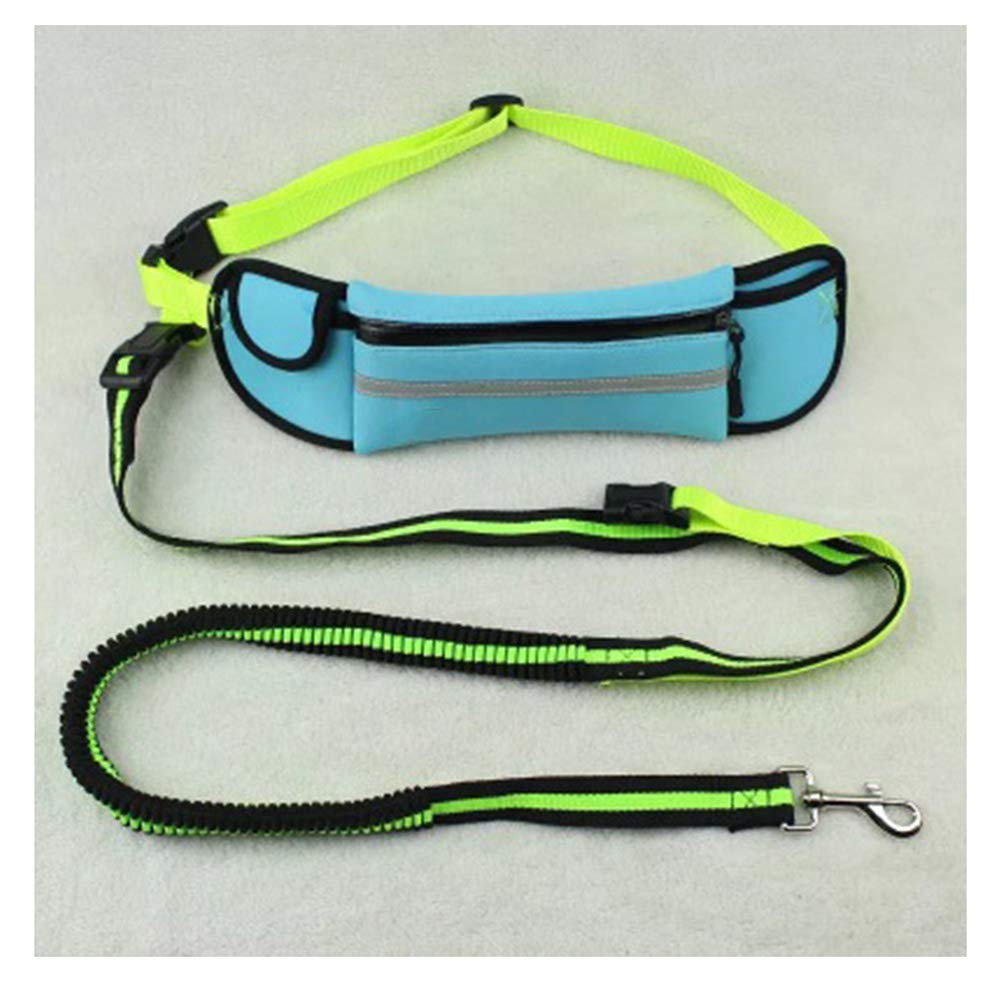 Water bluee HATHOR-23 Pet Leash Rope Pet Sport Traction Rope Reflective Waterproof Running Traction Rope Multi-Function Traction Out Stretchable Dogpet Leash (color   Water bluee)