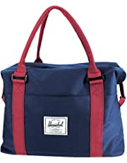Travel Tote Bag Carry On Shoulder Bag Overnight Duffel in Trolley Handle Nylon Weekender Bag