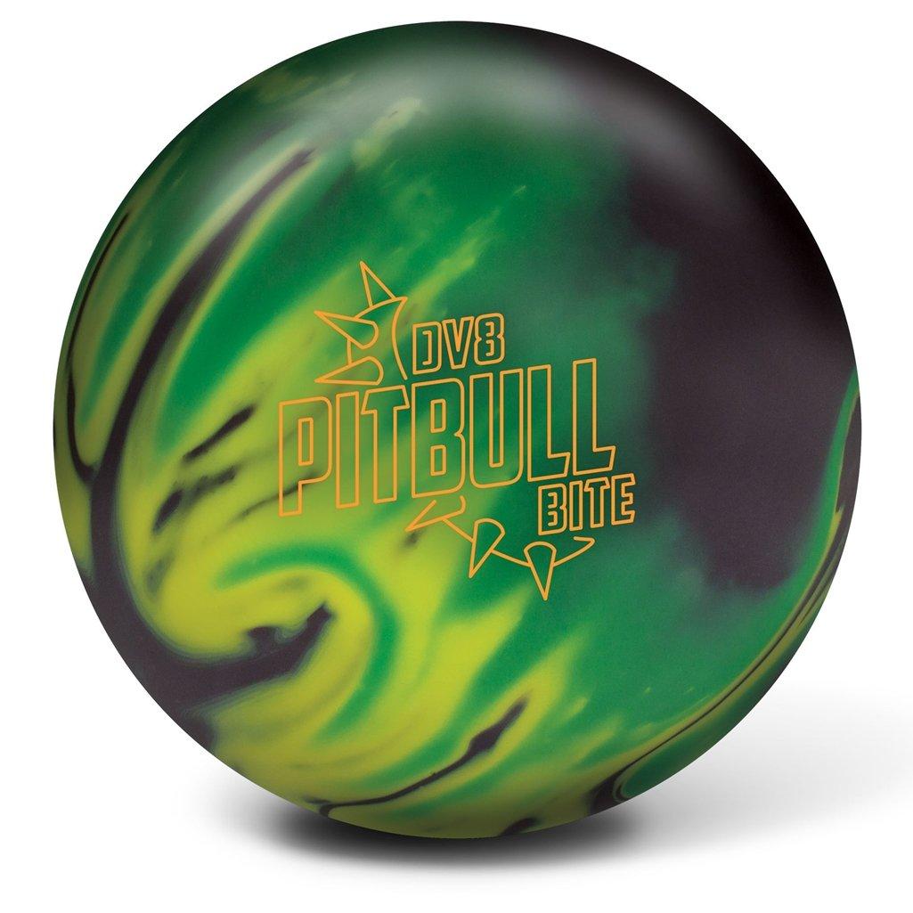 DV8 Pitbull Bite Bowling Ball Black/Yellow/Green, 16lbs