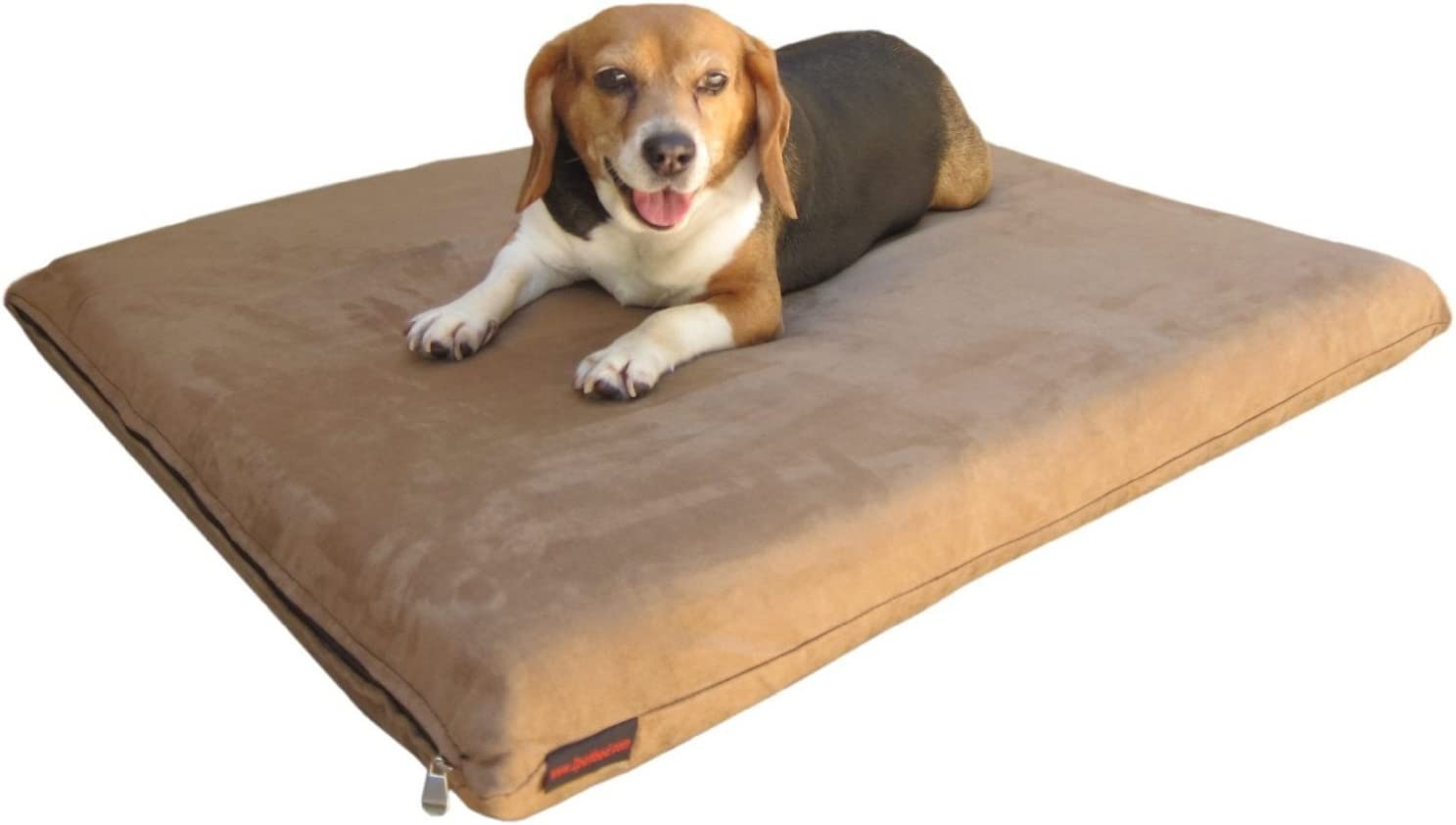 Quantity 2 Small Medium Memory Foam Pad Pet Bed External Suede cover Waterproof case for dog and cat