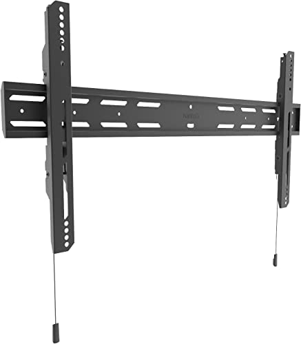 Kanto PF400 Fixed Flat Panel TV Mount for 40-inch to 90-inch TVs Supports up to 200 lbs 90 kg Accommodates 16 and 24 Stud spacing Low Profile Design – 1.4 from The Wall