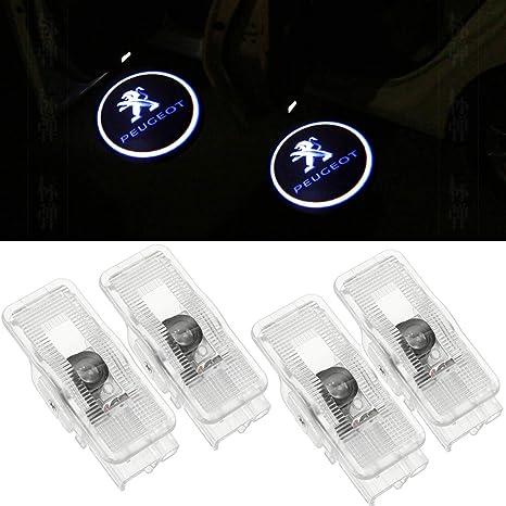 4 Pack Coche Puerta Luz LED proyector luz Bienvenue Logo Puerta iluminación de entrada decoración proyección