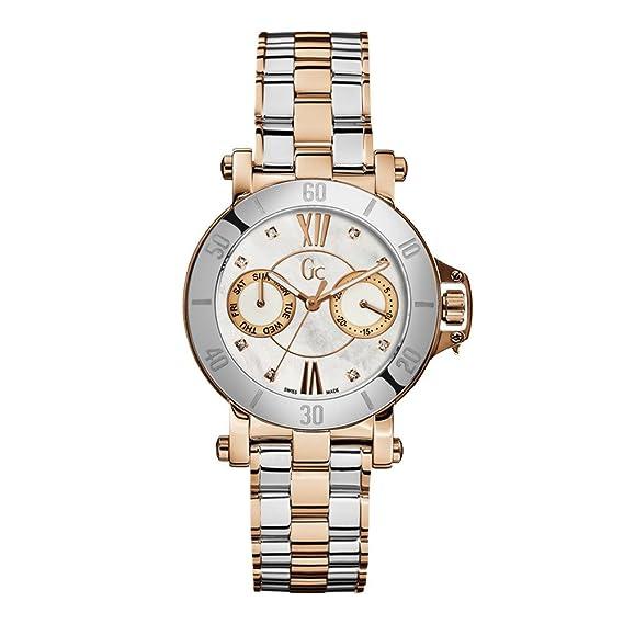Reloj Guess Collection Gc Femme 8 Diamonds X74104l1s Mujer Nácar: Amazon.es: Relojes