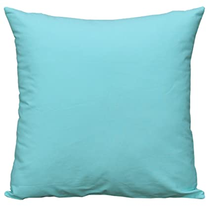 Mosong Seafoam Green Throw Pillow Covers Cotton Pillow Coverscases For Couchbedchairnursery 18x 18 Seafoam Green