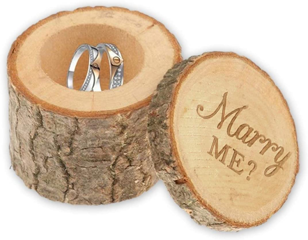 Proposal Box Marry Me Wood Jewelry Box Filigree Floral Wedding Box Bridesmaid Gift Engraved Wedding Ring Box Will You Marry Me Ring Box