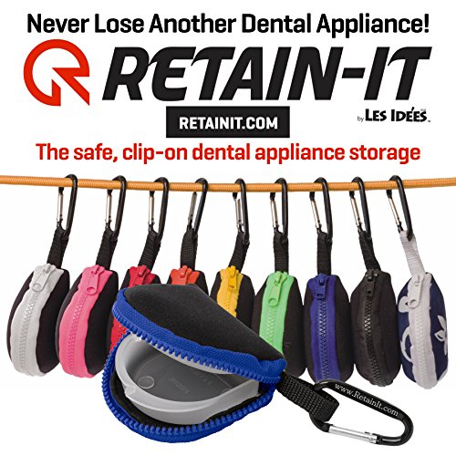 Retain-it - The Safe, Clip-on, Retainer, Mouth Guard and Dental Appliance Storage Solution! (Blue)