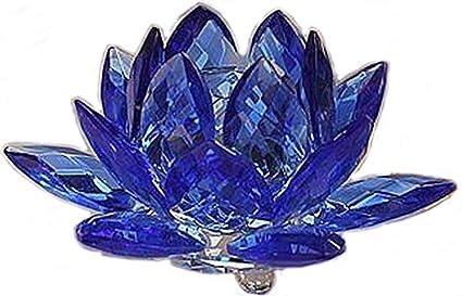amazon com amlong crystal 3 inch sapphire blue crystal lotus flower