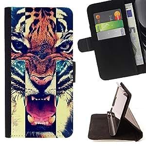 - Hipstr Nebula Aztec Tribal Pattern - - Prima caja de la PU billetera de cuero con ranuras para tarjetas, efectivo Compartimiento desmontable y correa para la mu?eca FOR HTC M8 One 2 King case
