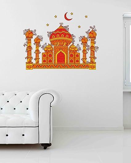 Buy Decals Design Indian Art Taj Mahal Symbol Of Love With Moon And