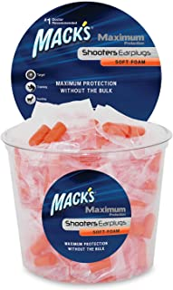 product image for Mack's Maximum Protection Soft Foam Shooting Ear Plugs, 100 Pair - 33 dB Highest NRR – Comfortable Earplugs for Hunting, Tactical, Target, Skeet and Trap Shooting