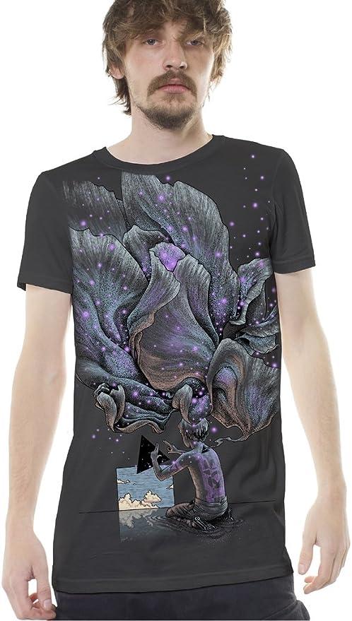 Camiseta psy Trance Gris para Hombre con Arte gráfico psicodélico Lucid Dream - Ropa Alternativa: Amazon.es: Ropa y accesorios