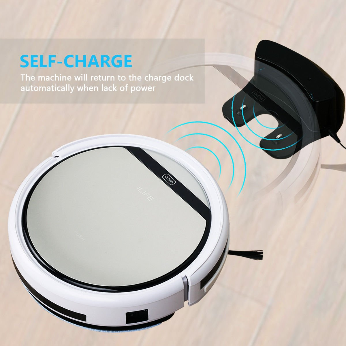 Cleaner Smart Robot Vacuum Cleaning Floor Auto Dust Microfiber Robotic Sweeper Mop Automatic by Alek...Shop (Image #2)