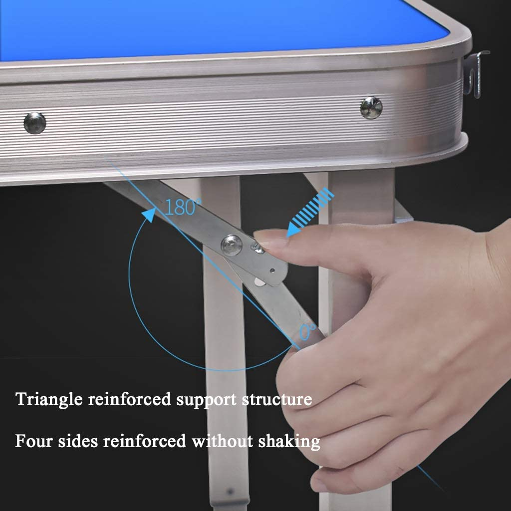 Hoge Kwaliteit Tafel Klaptafel Met 2 Stoelen Aluminium Snacktafel, Bank Eenvoudige Eettafel, Drie Niveaus Van Vrij Verstelbare Hoogte Picknicktafels (Color : Style3) Style3 Sab7lYC